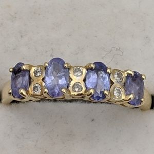 Jewelry - 14k Gold Tanzanite & Diamond Ring